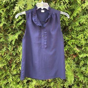 Jcrew size 2 navy tank top blouse